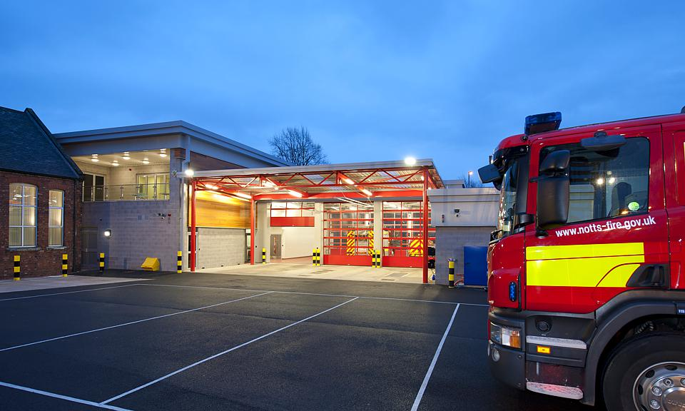 Image of Carlton Fire Station, Nottinghamshire installation