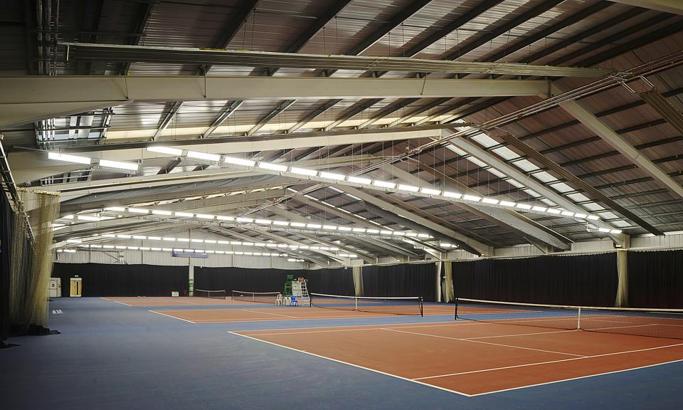 Image of Stirling University Tennis Centre, Cramond Building installation